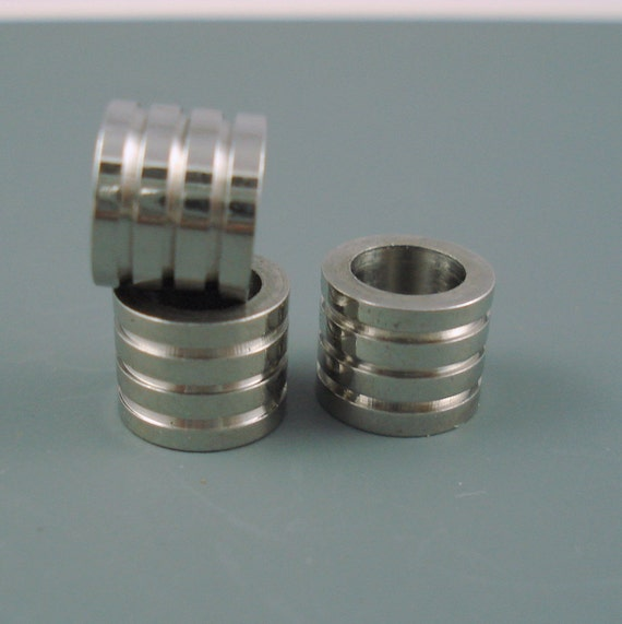 stainless steel 6 5mm grooved column bead for