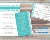 Lace Printable Wedding Invitation Set