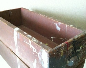 Vintage Wood Painted Drawer