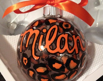 Personalized hand painted ornament