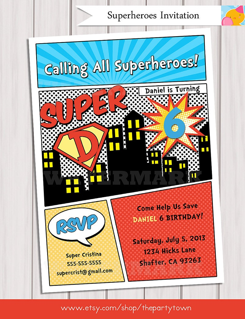 comic book themed wedding invitations - 28 images - 20 best images ...