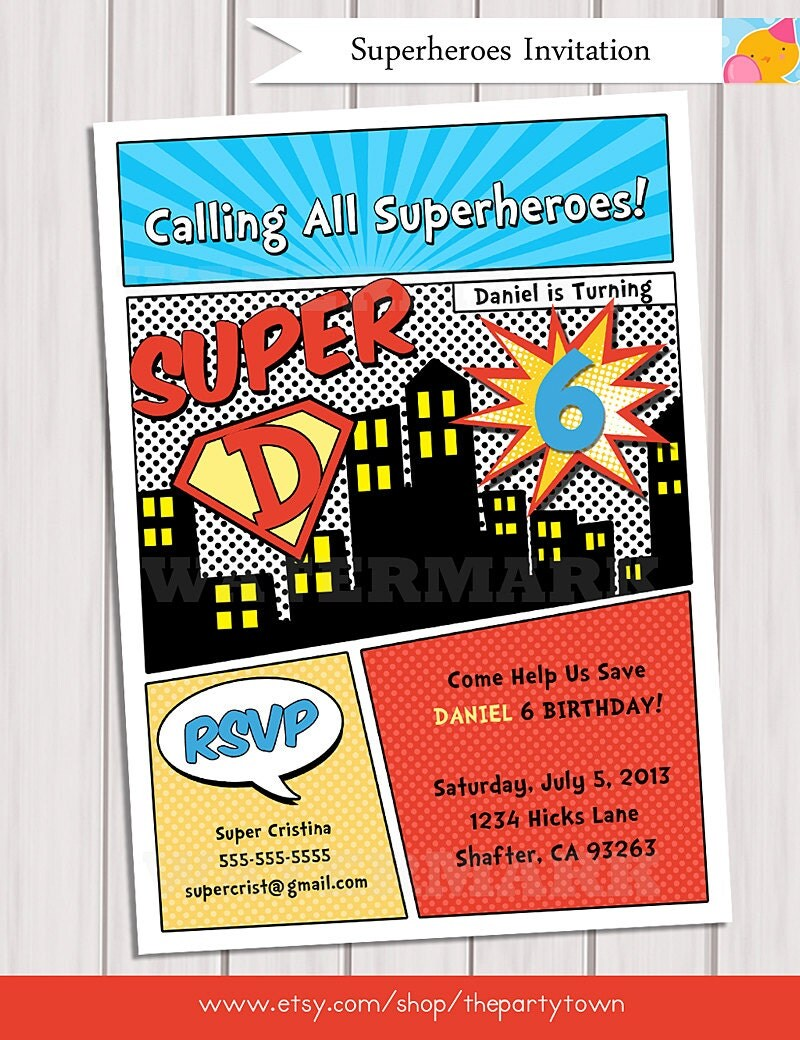 comic book themed wedding invitations - 28 images - items similar to ...