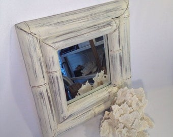 Large ornate white mirror for sale shabby chic by shabbyshores for Large white mirrors for sale