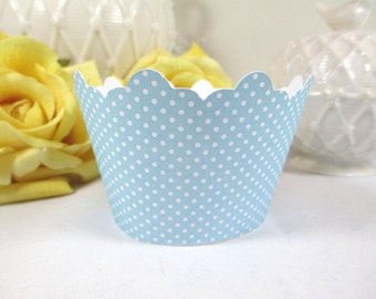 12 Breakfast at Tiff ...Bridal Shower Cupcake Wrapper, Pool Blue Wedding Cupcake Holders, Aqua Blue Cupcake Holders, Turquoise Wrappers