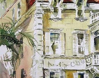 Duncan House - Watercolor Print