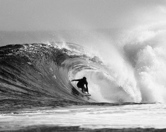 Surf Photography Surfing Hawaii Black and White Photo