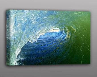Sale Price: 12x18 Canvas Print Tubing Wave Surf Photo Free Shipping