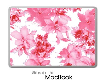 """Abstract Pink Floral Skin for the MacBook 11"""", 13"""" or 15"""""""