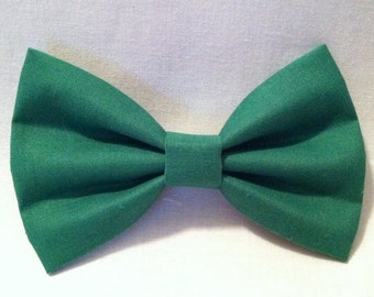 Large Kelly Green Fabric Bow Tie Hair Bow