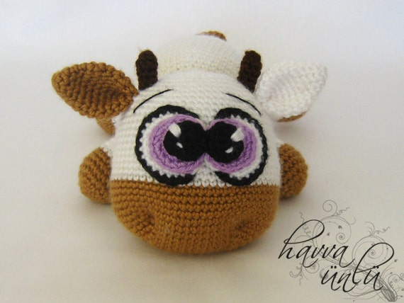 Amigurumi Cowco : Amigurumi Cute Cow Pattern by HavvaDesigns on Etsy