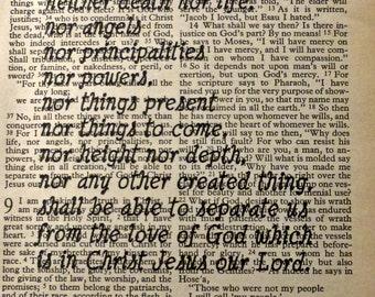 Bible Verse Art Print Instant Download Romans Scripture Vintage Book Print Verse Scripture Print Christian Wall Art