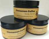 Gourmet Cinnamon Coffee Body Scrub - 4 oz - FREE SHIPPING