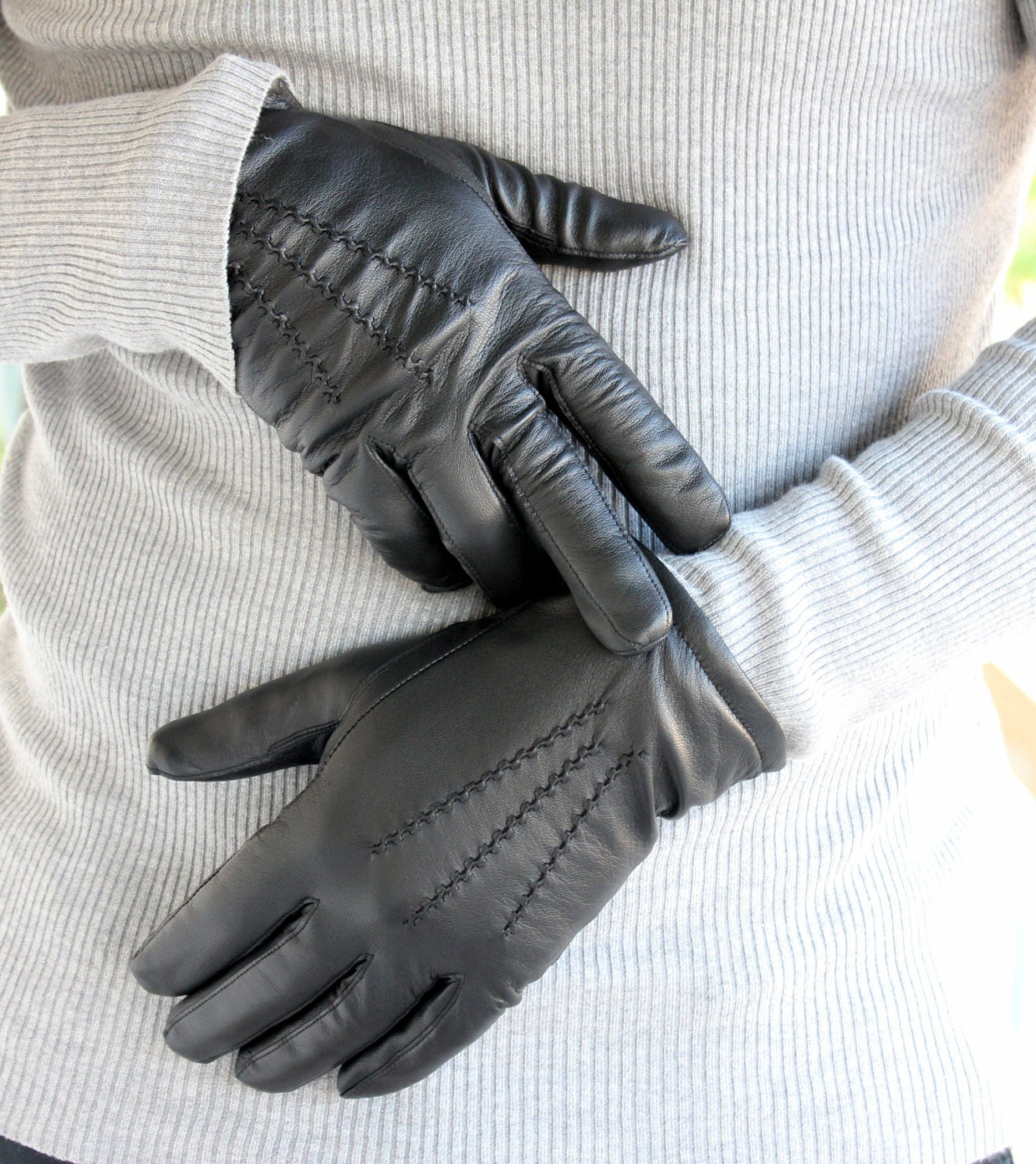 Black gloves mens -  Zoom