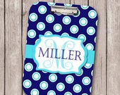 Personalized Clipboard - Teacher Gift - personalized gift - clipboard - stripes - polka dot - name - monogram