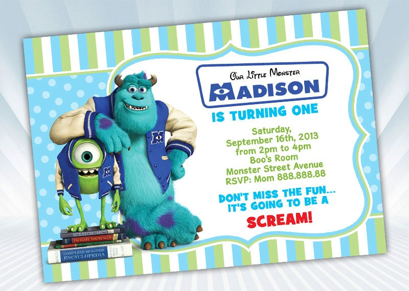 Monster University Invitation