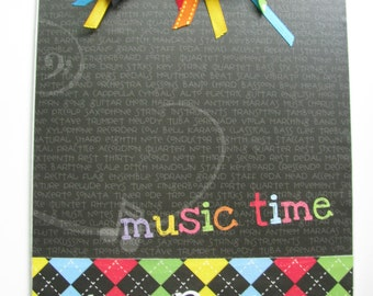 Personalized Teacher Clipboard- Music