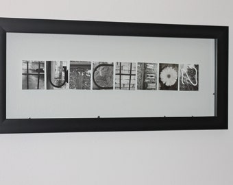 Abstract Name Photo Frame