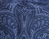 Rich BLUE PAISLEY Contemporary Woven Upholstery Fabric