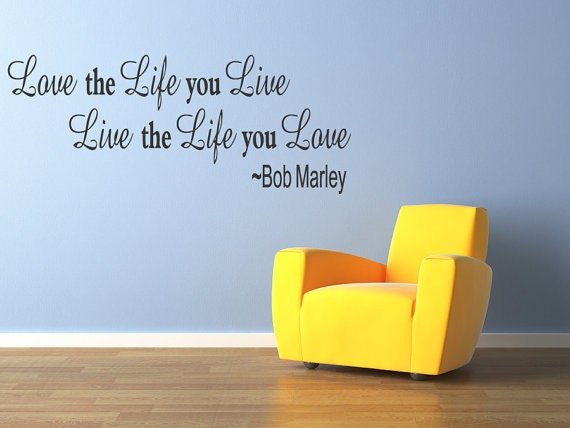 Bob marley quote wall mural decal decor text art graphic for Bob marley wall mural