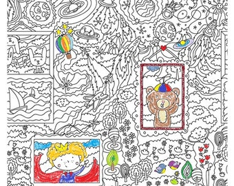 "Wallpapers-coloring ""Dreamer"" for children"