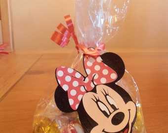 Minnie Mouse Treat Bags with Tags- Red