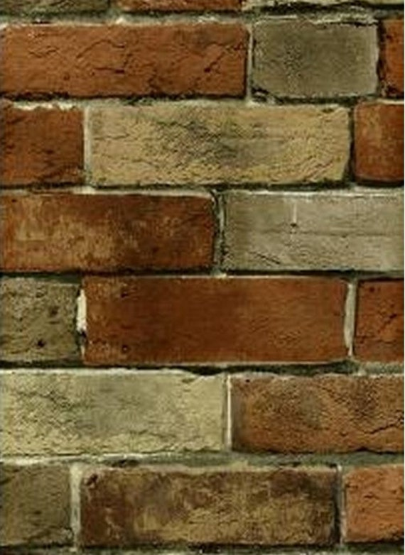 Distressed tuscan brick and mortar wall old world rustic for Distressed brick wall mural