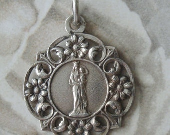 Antique Catholic medal Our Lady of the guard
