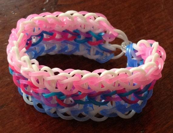 Rainbow Loom Triple Single Bracelet Glow in Dark Tie by ... Rainbow Loom Double Triple Single