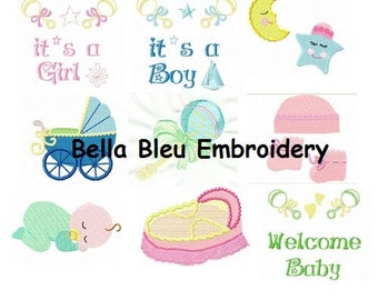 Adorable Sweet Baby Embroidery Design Collection