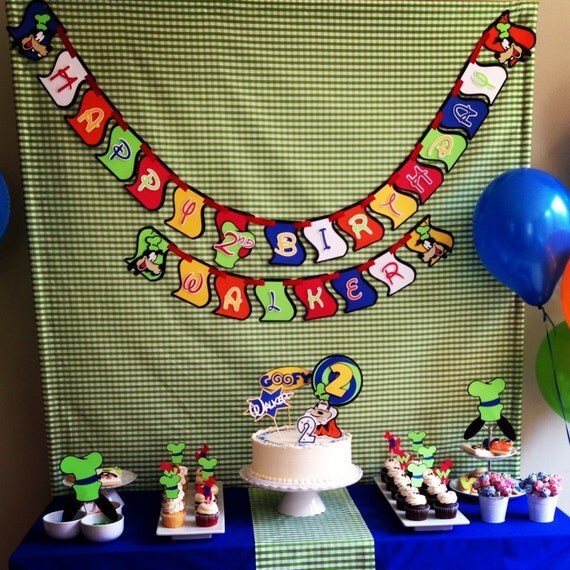 Mickey Mouse Club Birthday Banner for Wendy