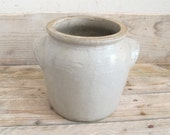 Antique French glazed confit pot vintage pottery, country cottage, earthware, stoneware - MaisonW