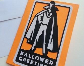 Happy Halloween Card - Dracula