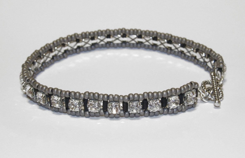 swarovski cup chain tennis bracelet by jacquelinsjewels on. Black Bedroom Furniture Sets. Home Design Ideas