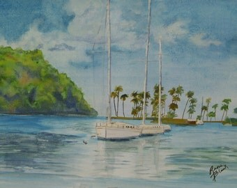 "This is a print from my original painting titled "" Antigua Afternoon""5x7,8x10,11x14,16x20, wrapped canvas, note cards"
