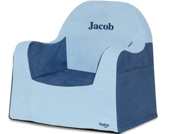 P'kolino Personalized New Little Reader Chair- Blue (add name to be personalized in Notes)