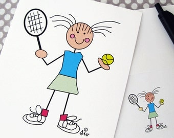 "Tennis Cards, Tennis Note Cards On SALE  ""Tennis Gal"""