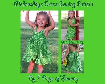 Wednesday Dress Sewing Pattern PDF