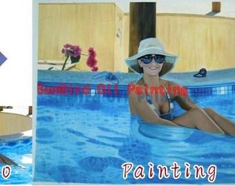 Custom oil portrait painting,original oil painting,family portrait,pet portrait,women portrait,personal portrait etc fron photo,One Person