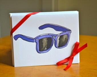 8 Blank Sunglasses Cards