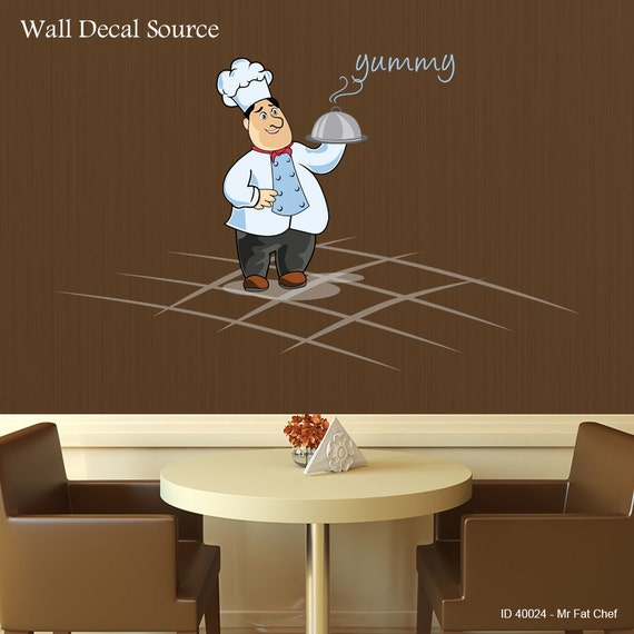 items similar to italian chef wall decal kitchen vinyl