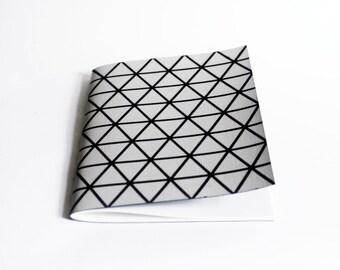 A5 size hand screenprinted notebook journal sketch book geometric triangle print