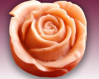 Vivid Rose Flower Soap Mold Flexible Silicone Mould For Handmade Soap Candle Candy Cake Fimo Resin Crafts