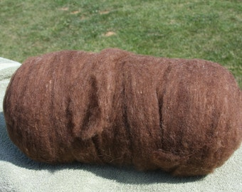 Chocolate Shetland Wool Roving