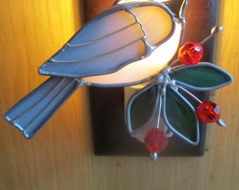 FRIENDLY CHIC-A-DEE stained glass nightlight
