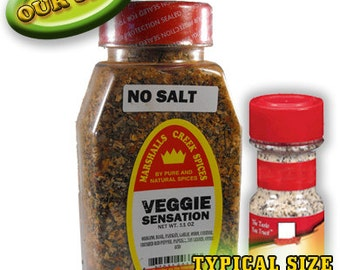 VEGGIE SENSATION SEASONING, No Salt 11 oz
