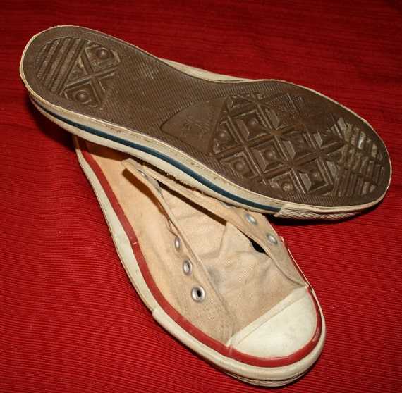vintage 1960s canvas tennis shoes high school by