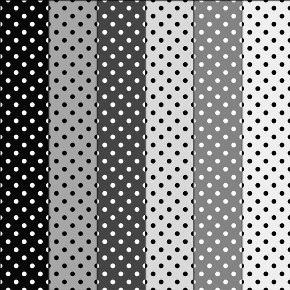 Topos blanco y negro imagui - Papel de pared blanco y negro ...