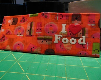 Food Frenzie, Red, and White I Heart Food Duct Tape Wallet
