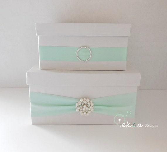 Wedding Mailbox Gift Holder : Wedding card box / money box / card holder / gift card box / 2 Tier ...