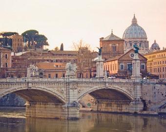 Rome, Italy Photography - Travel, Romantic Wall Art - Vatican, Bridge, Rome, Italy